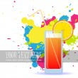 Royalty-Free Stock Vector Image: Colorful cocktails on a grunge-background. Vector illustrations. EPS 10