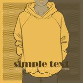 Abstract vector illustration of sweatshirt. — Stock Vector