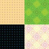 Vektor uppsättning abstrakta floras sömlösa texturer. — Stockvektor
