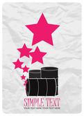 Ilustración vectorial abstracto de barriles y las estrellas. lugar para el texto. — Vector de stock