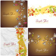Set of vector illustrations with floral backgrounds. — Stock Vector