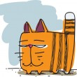 Funny cartoon cat. Vector - 图库矢量图片