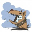 Vector illustration of funny angry doggy. - Stockvektor