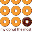 Vector card with donuts and text. — Stock Vector