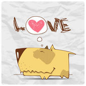Cute cartoon dog character. — Stock Vector