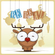 Cute cartoon deer -  