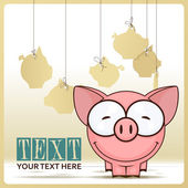 Cute cartoon pork — Stock Vector