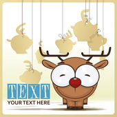 Cute cartoon deer — Stock Vector