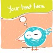 Funny cartoon bird, Vector illustration - Stock Vector