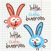 Vector ilustración del personaje de conejo de dibujos animados divertidos. — Vector de stock