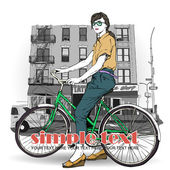 Pretty girl with bicycle on a street background. Vector illustration — Stock vektor