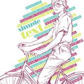 ładna dziewczyna z rowerów. ilustracja wektorowa — Wektor stockowy