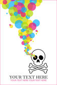 Abstract vector illustration with cranium and balloons. — Stock Vector