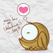 Vector illustration of cute cartoon frog character and heart. - 图库矢量图片