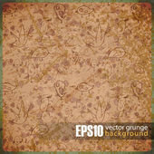 EPS10 vintage background with birds — Stock Vector