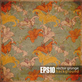 EPS10 vintaje floral background — Stock Vector