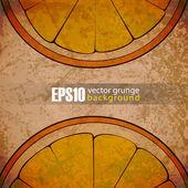 EPS10 vintage background with orange — Stock Vector