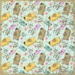 EPS10 vintage background with funny doggies - Vettoriali Stock