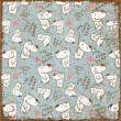 EPS10 vintage background with bears - Imagen vectorial