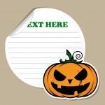 Stickers with cartoon halloween pumpkin. Vector — Stock Vector #22300229