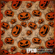 Royalty-Free Stock Vector: Seamless texture with halloween pumpkin