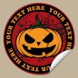 Stickers with cartoon halloween pumpkin. Vector — Imagens vectoriais em stock