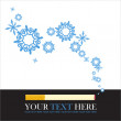 Abstract vector illustration of cigarette and snowflakes. — Stock Vector