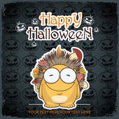 Halloween greeting card — Stock Vector