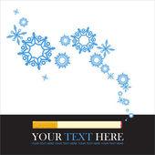 Ilustração em vetor abstrato de cigarro e flocos de neve. — Vetorial Stock