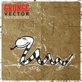 Vektor-illustration von süß schlange zeichentrickfigur in skizze stil. — Stockvektor