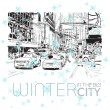 Winter in the big city. Vector illustration. - Stock Vector