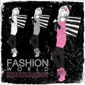 Ročník vektorové ilustrace krásné módní dívky v náčrtu stylu na černém pozadí. — Stock vektor