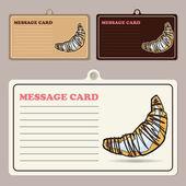 ベクトル漫画ドーナツ メッセージ カードのセット. — ストックベクタ