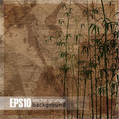 EPS10 vintage bamboo background — Stock Vector