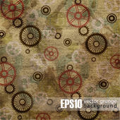 EPS10 vintage mechanical background — Vector de stock
