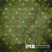 Eps10 vintage achtergrond met cartoon konijnen — Stockvector