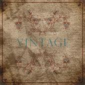 EPS10 vintage floral background — Stock Vector