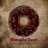 EPS10 vintage background with donut — Stock Vector