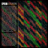 Eps10 fondo vintage con palabras — Vector de stock