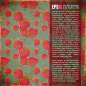 Vintage bakgrund med jordgubbar. plats för din text — Stockvektor