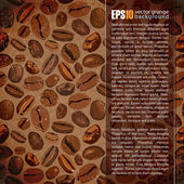 Vintage background with coffee beans. Place for your text — Stock Vector