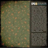 EPS10 vintage background with cartoon rabbits — Cтоковый вектор