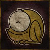 Vector illustration of cute cartoon frog character — Stock Vector