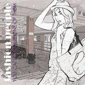 Vacker ung flicka i skiss-stil på en tunnelbanestation. vektor illustration — Stockvektor