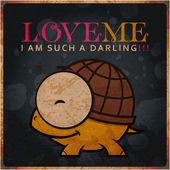 Vector illustration of cute cartoon turtle character. — Stock Vector