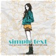 Floral vector card with pretty fashion girl. - Vettoriali Stock
