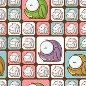 Textura sin fisuras con ranas divertidos dibujos animados. — Vector de stock