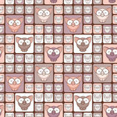 бесшовный фон с смешной мультфильм свиней. — Cтоковый вектор