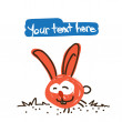 Funny cartoon rabbit character — Stock Vector #24746149
