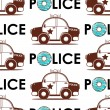 Police car seamless pattern — Stock Vector